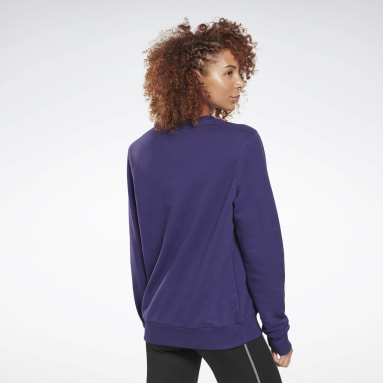 Sweat à col rond Reebok Identity Logo French Terry Violet Femmes Fitness & Training