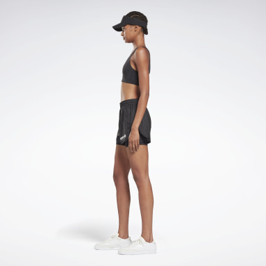 Women Fitness & Training Black Victoria Beckham Two-in-One Shorts