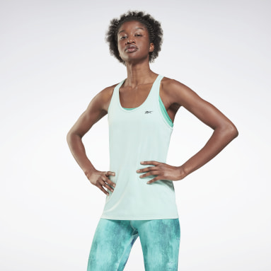 Women Cycling Green Activchill Athletic Tank Top