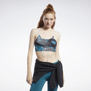 Women Fitness & Training Turquoise Meet You There Low-Impact Bra