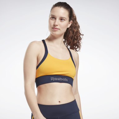 Women Casual Yellow Piping Bralette