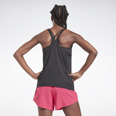 Polera sin mangas United By Fitness Perforated Negro Mujer Entrenamiento Funcional