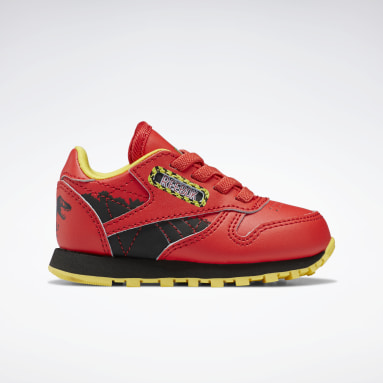Kids Classics Red Jurassic Park Classic Leather Shoes