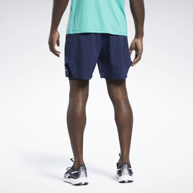Men Hiking Blue Running Two-in-One Shorts