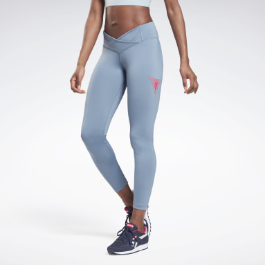 MYT Detail Poly Tight Azul Mujer Fitness & Training