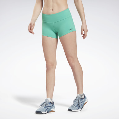 Women Gym & Training Turquoise United By Fitness Chase Bootie Shorts