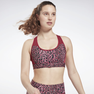 Bra Lux Racer Padded Sports Rosa Donna Fitness & Training