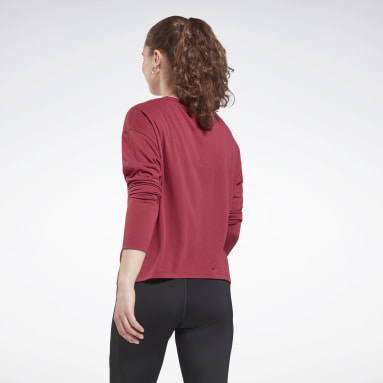 Women Fitness & Training Pink Workout Ready Supremium Long-Sleeve Top T-Long-Sleeve Top