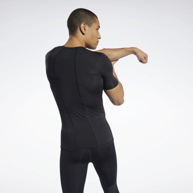 Men HIIT Black Workout Ready Compression Tee