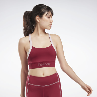 Women Casual Pink Piping Bralette