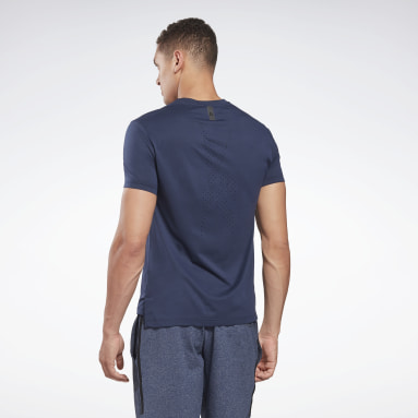 Men Training Blue United By Fitness Perforated Tee