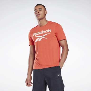 Men Cross Training Red Workout Ready Supremium Graphic Tee