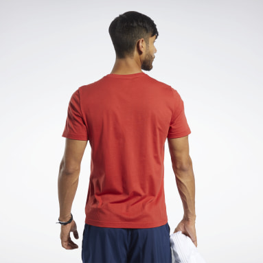 T-shirt à col rond Graphic Series Reebok 1895 Rouge Hommes Fitness & Training