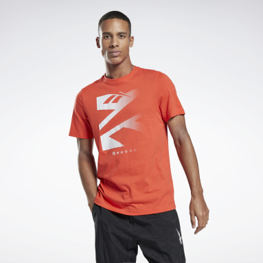 Men Fitness & Training Red Vector Fade Graphic T-Shirt