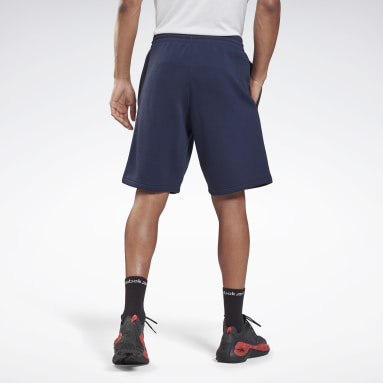 Men Lifestyle Blue Training Essentials French Terry Shorts