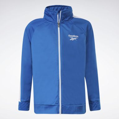 Boys Fitness & Training Two-Piece Reebok Full-Zip Jacket and Joggers Set
