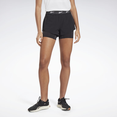 Short Epic Two-in-One Nero Donna Trail Running