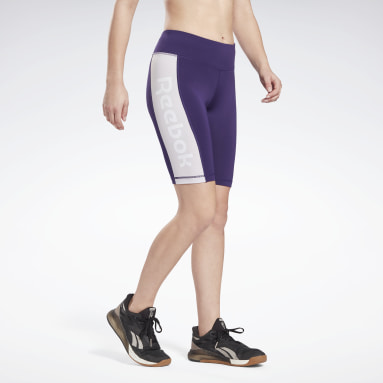 Dames Studio Paars Linear Logo Fitted Short