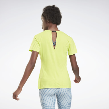 Women Cycling Yellow Activchill Athletic T-Shirt
