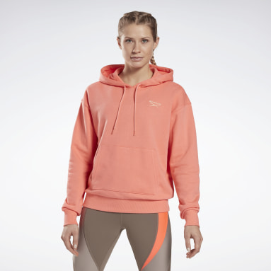 Women Fitness & Training Red Reebok Identity French Terry Hoodie