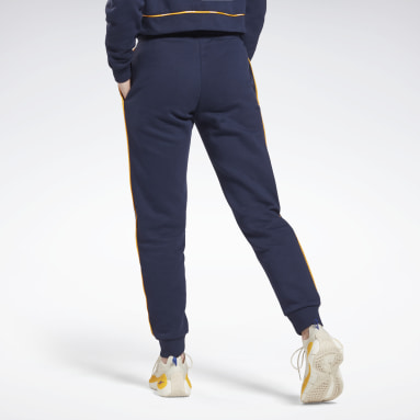 Women Lifestyle Blue Piping Joggers