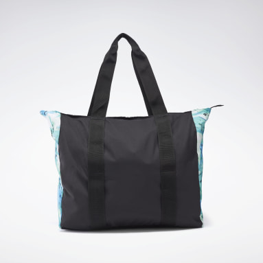 Women Fitness & Training Black Tech Style Graphic Tote Bag