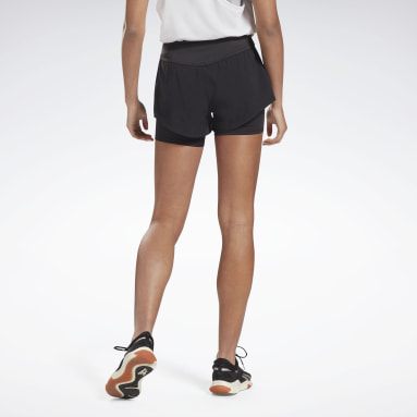 Shorts Epic Two-in-One Negro Mujer Entrenamiento Funcional