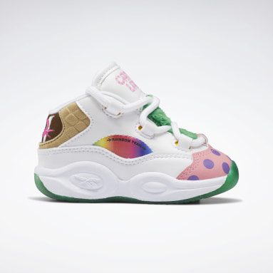 Kids Classics White Candy Land Question Mid Shoes