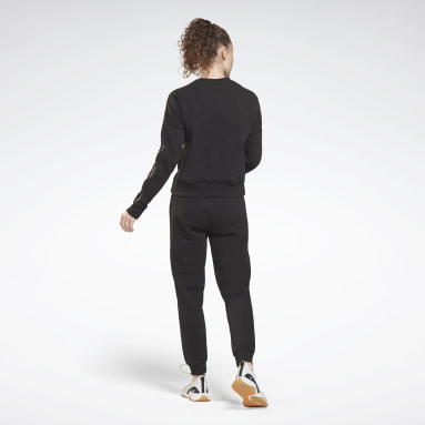 Women Lifestyle Black Piping Tracksuit