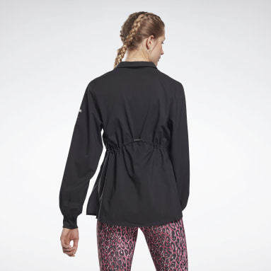 Women Fitness & Training Black Collared Cover-Up