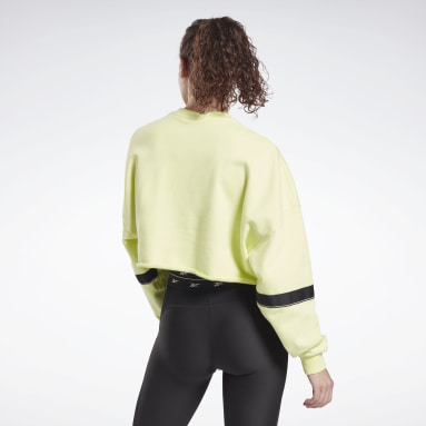 Jersey cropped French Terry Studio Amarillo Mujer Deporte