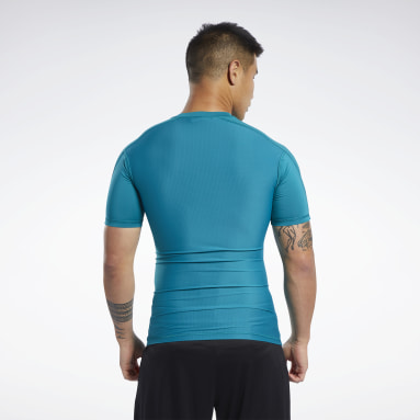Mænd Fitness & Training Turkis Compression Tee