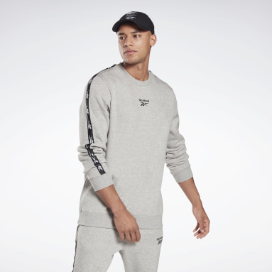 Sweat à col rond Training Essentials Tape Gris Hommes Fitness & Training