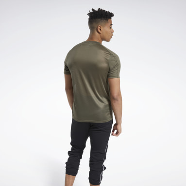 T-shirt Workout Ready Polyester Tech Verde Uomo Fitness & Training