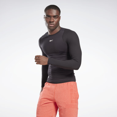 Men Training Black United By Fitness Compression Long Sleeve Shirt