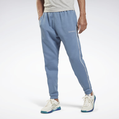 Men Lifestyle Blue Training Essentials Piping Joggers