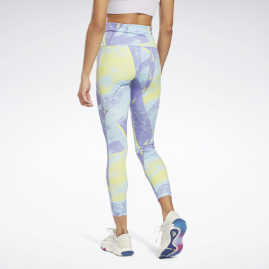 Legginsy Workout Ready Printed Fioletowy