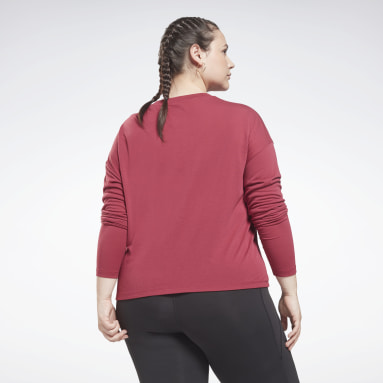 Women Dance Pink Workout Ready Supremium Long-Sleeve Top T-Long-Sleeve Top (Plus Size)