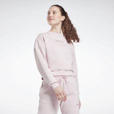 Dames Fitness & Training Roze Piping Pack Crewneck