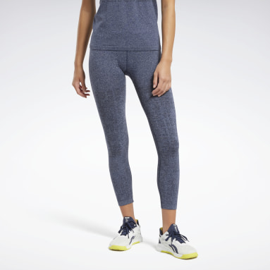 Women HIIT Blue United By Fitness MyoKnit Seamless 7/8 Tights