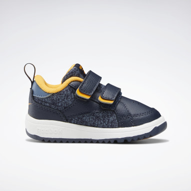 Kids Classics Blue Weebok Clasp Low Shoes - Toddler