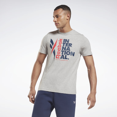 T-shirt Verbiage Graphic Gris Hommes Fitness & Training