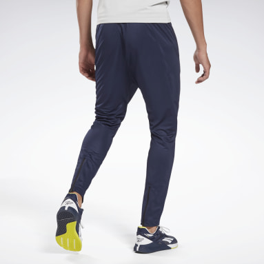 Men Fitness & Training Blue Workout Ready Track Pant