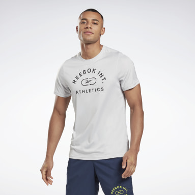 Men Fitness & Training Grey Workout Ready Graphic T-Shirt