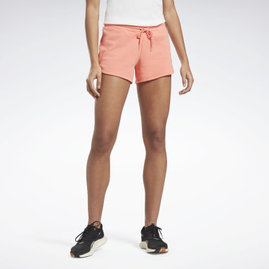Women Fitness & Training Red Reebok Identity French Terry Shorts