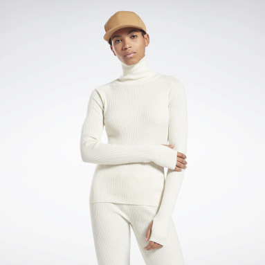 Sweter VB Roll Neck Bialy