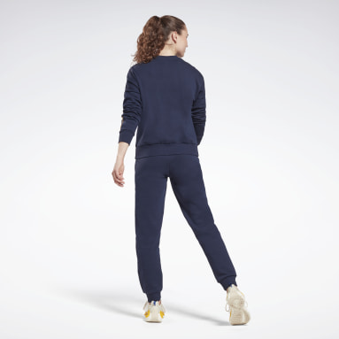 Women Lifestyle Blue Piping Tracksuit
