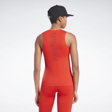 Canotta VB Performance Rosso Donna Fitness & Training