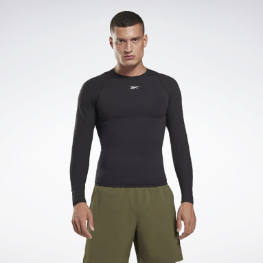 Maglia United By Fitness Compression Long Sleeve Nero Uomo Fitness & Training