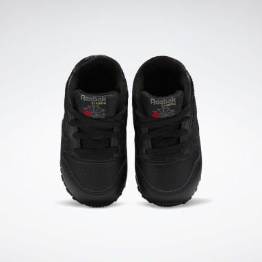 Kids Classics Black Classic Leather Shoes - Toddler
